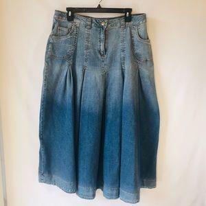Soft Surroundings | Denim Skirt